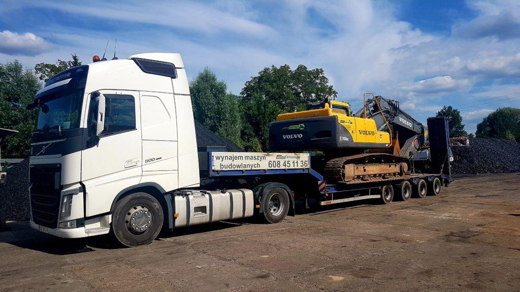 transport maszyn budowlanych
